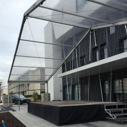SML - Couverture de scene avec structure toilee