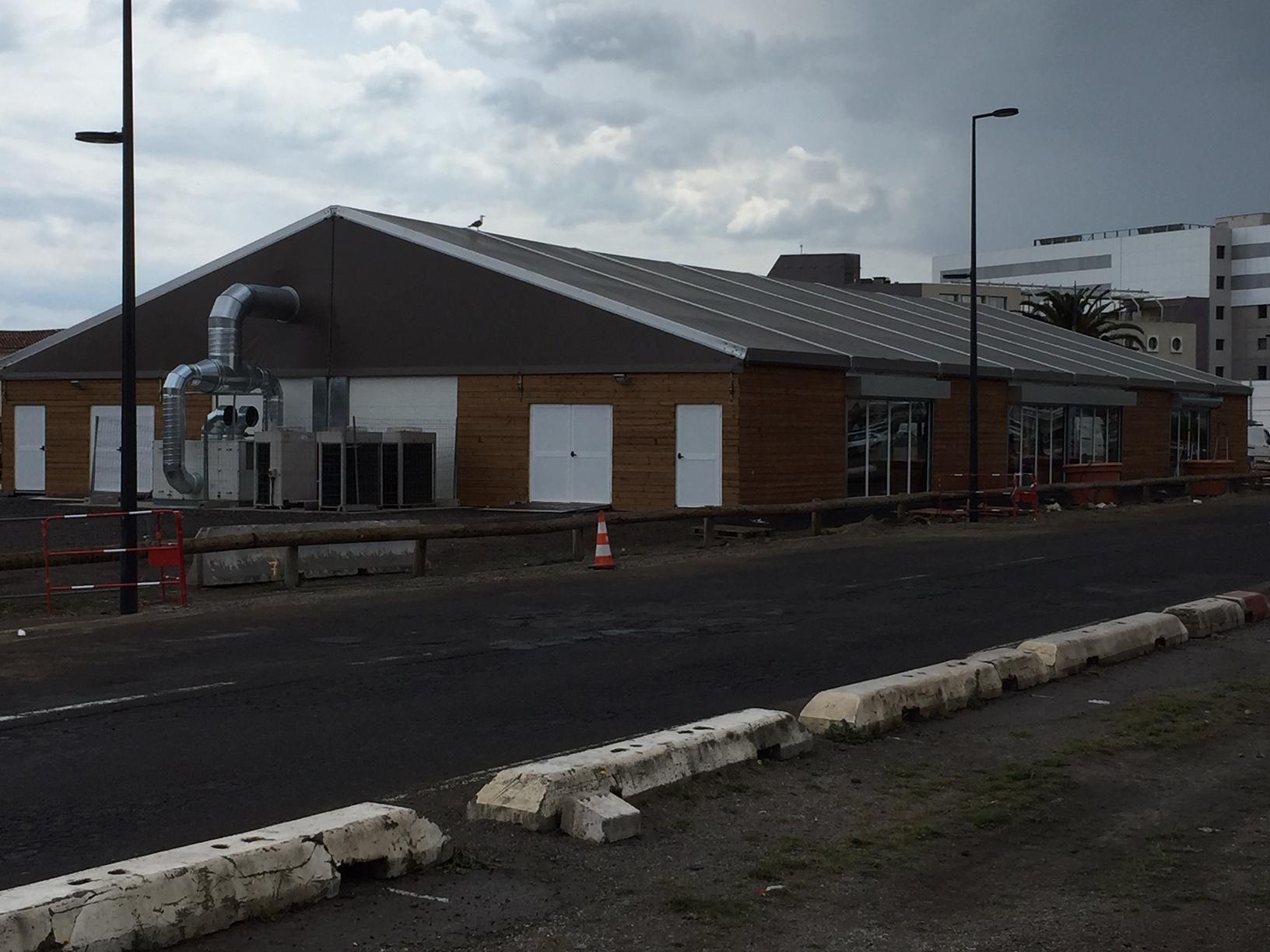 SML - Construction d'une salle polyvalente temporaire - bâches sur mesure